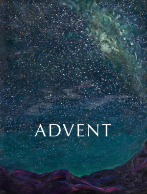 Advent against a starry sky